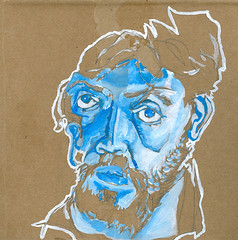 self-portrait #09 guache on cardboard 7 x 7 copy