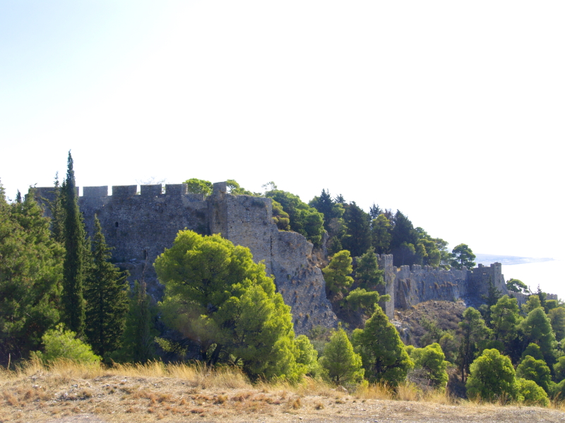 Nafpaktos castle walls from the NW.