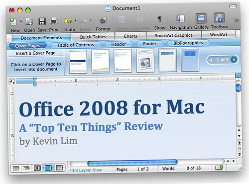 """Office 2008 for Mac: A """"Top Ten Things"""" Review"""