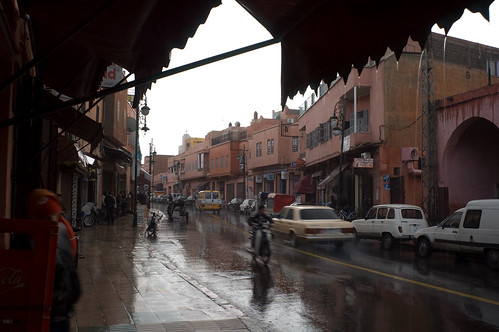 Lluvia en Marruecos