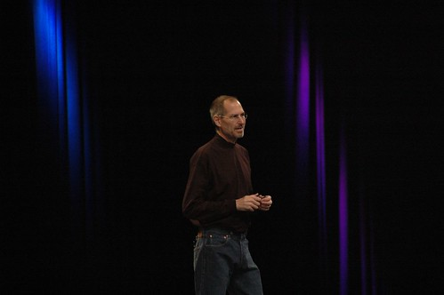 Steve Jobs at Macworld 2008, photo by dfarber