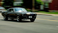 Bullitt (AtillaSoylu) Tags: road toronto black ford car speed d50 nikon mustang gta panning turkish araba fastback 50mmf18 atilla soylu