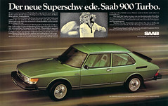 Reklame Saab 900 Turbo (1980) (jens.lilienthal) Tags: auto old classic cars car vintage advertising reclame ad voiture advertisement turbo advert older autos werbung saab reklame 900 voitures anzeige
