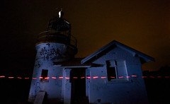 Cut Along the Dotted Line (norbography) Tags: light red lighthouse night vote flicker toddnorbury