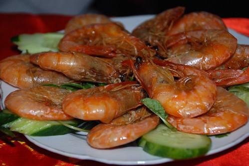 steamed prawns