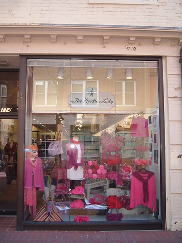 red and pink window