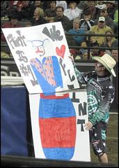 (.emily.) Tags: sign paper poster drawing clown pbr fans flint bullriding professionalbullriders flintrasmussen
