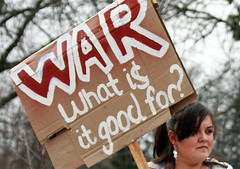 WAR - What is it good for? (Robin Dude) Tags: people washington bush war peace mayor georgewbush georgebush politics iraq protest teens highschool antiwar bellingham wa ferndale gwbush ferndalewa ferndalehighschool