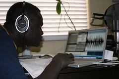 Learning to Record the New Testament in Dinka 23 (Jacob & Kiki Hantla) Tags: studio 2008 recording dinka acoustica sabit megavoice sebit