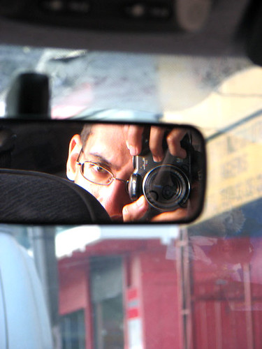 self portrait in manaus traffic