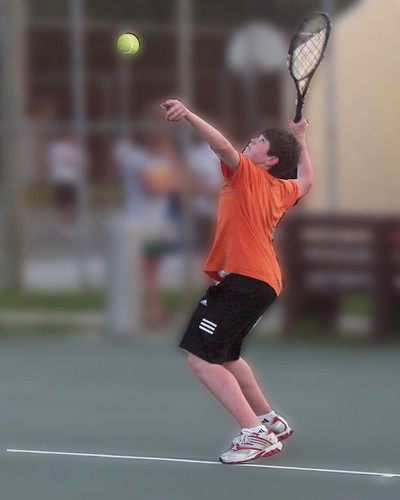 14 yr old grandson Darin, a whiz at tennis