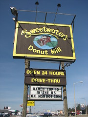 Kalamazoo, Michigan - Sweetwater's Donut Mill Sign (Darrell Harden) Tags: mill sign flickr michigan donut doughnut kalamazoo sweetwaters dayofthedonut upcoming:event=472136 dayofthedonuts