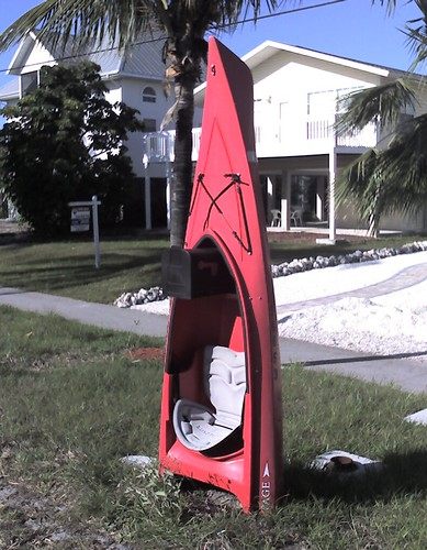 Red Kayak Bonita Springs Beach