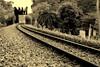 Continuum (... Arjun) Tags: sunset bw 15fav scale monochrome field sepia 1025fav 510fav train 50mm vanishingpoint nikon singapore asia track dof curves band railway monotone 100v10f ktm malaysia locomotive variety d200 curve toned 2008 range f25 johnmayer bukittimah malaya continuum leadinglines 50mmf14d gamut bluelist