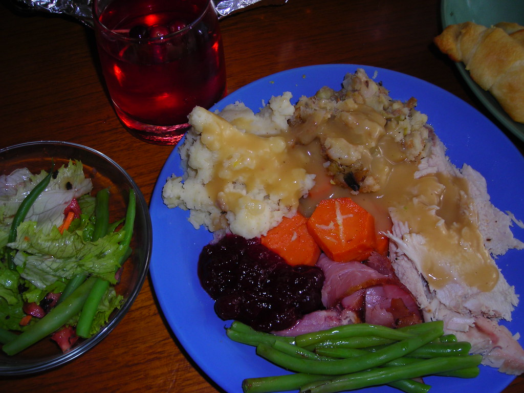 Thanksgiving - my plate