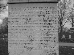 Grave of John Cradlebaugh (ddsiple) Tags: ohio mountain cemetery forest john utah war massacre nevada meadow historic civil mormon vicksburg 1857 circleville cradlebaugh