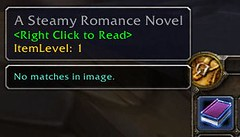 Screen print of A Steamy Romance Novel in World of Warcraft
