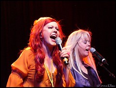 Kate Pierson & Cindy Wilson of The B-52's - 116/365+1 - 04/25/08 (Harpo42) Tags: philadelphia closeup concert tour singing philly npr 885 rocklobster wxpn electricfactory theb52s xpn katepierson freeatnoon cindywilson project366 april252008 1163651