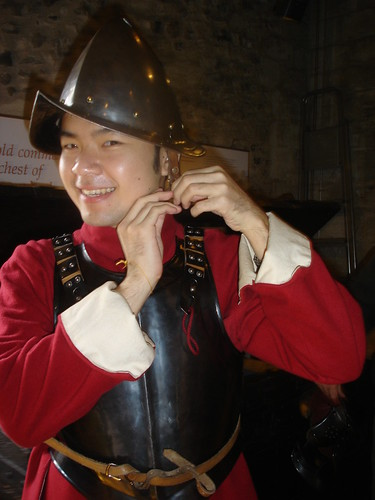Me Wearing the Armour
