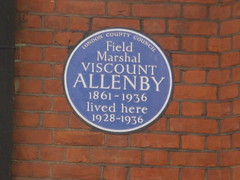 Photo of Edmund Henry Hynman Allenby blue plaque