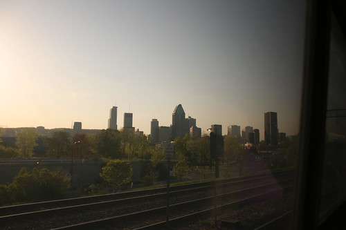 Montréal from the train