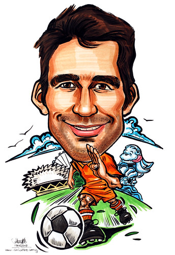 Caricature P&G Holland soccer player