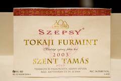 2003 Szepsy Istvan Tokaji Furmint Szent Tamas