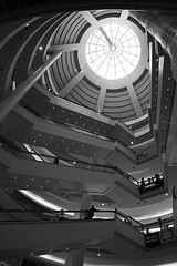 Atrium (LINCOLNOSE2) Tags: blackwhite escalator skylight atrium canonefs1855mm windowshopping klcc blackdiamond suriashoppingmall flickrsbest golddragon canoneos400d omot crystalaward dragongoldaward fabulousflicks lincolnose22008 flickrlovers thecolorsofmylife
