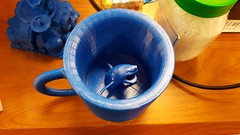 Shark mug (SchuminWeb) Tags: schuminweb ben schumin web november 2016 coffee cup mug mugs micro center microcenter rockville montgomery county maryland md shark sharks 3d three dimensional threedimensional printing printed great white blue plastic