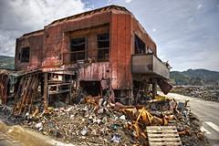 Pit Stop To Nowhere (JRaptor) Tags: japan earthquake nikon destruction tsunami disaster iwate   tohoku hdr rubble devastation   annihilation   d3s  jonsheer otsuchicho