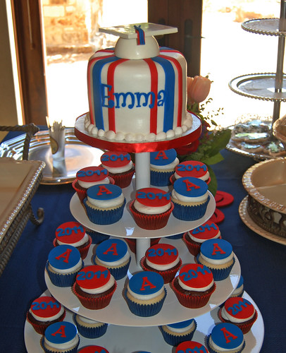 University of Arizona graduation cupcake tower