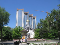 Rostov City Towers UC (Phnom) Tags: new city trees windows urban brown building brick green tower church glass beautiful architecture modern temple office high downtown candle apartment russia crane south centre towers officebuilding highrise don tall residential underconstruction glassy rostov rostovondon publichousing rostovnadonu highestpoint toppedout rostovcity publicblock suvorovastreet