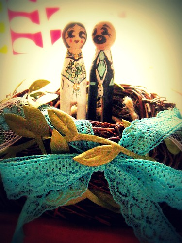nest and clothespin caketopper by punkscrapper