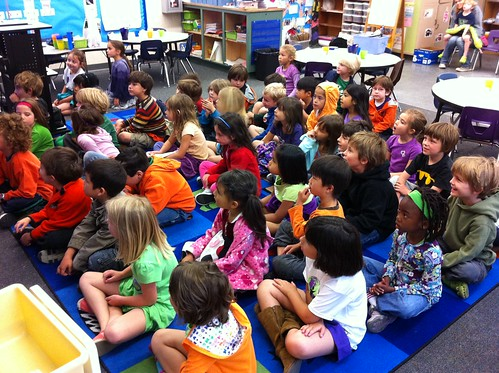 The audience: 46 kindergarteners