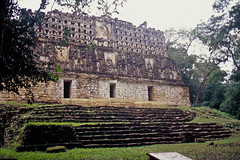 Yaxhiln-11 (duque molguero) Tags: art mxico architecture mexico temple arquitectura ancient rainforest ruins king arte maya selva mayanruins jungle ruinas scanned rey civilization archeology chiapas templo reyes clasico prehispanic arqueologia stelae estela jungla kukulkan mayab arqueologica prehispanico selvalacandona civilizacin arqueologico estelas mundomaya glifo glifos yaxhilan posclasico