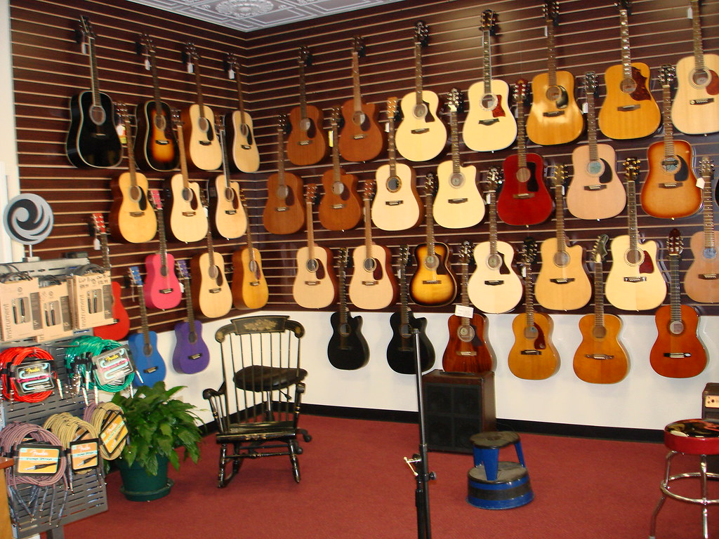 Acoustic Guitar wall of RWGA