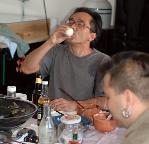 Jon Nakamura eating Balut