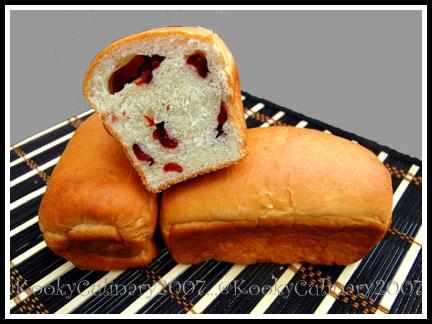 Cranberry Milk Loaf 1