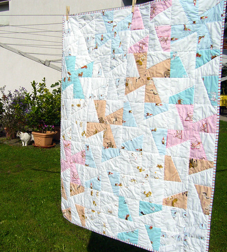 whimsical pinwheels -- Baby / Toddler Heirloom Quilt