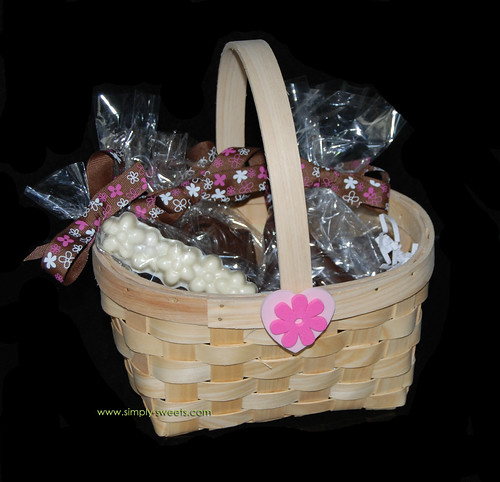 shoes and purses chocolate basket