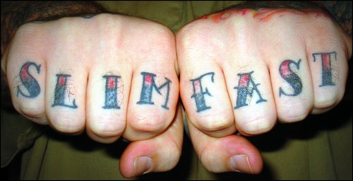 knuckle tattoo. Knuckle Tattoos - quot;Slim Fastquot;