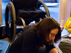 Freedom (The Finest Hour) Tags: halloween sarah freedom escape wheelchair