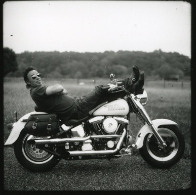 Bruce Springsteen en su Harley