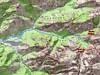 Carte de la vallée du Saltare avec le Monte Saltare et le ravin de Saltare