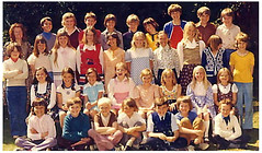 Fawbert and Barnard's primary school, 1975. (Eleventh Earl of Mar) Tags: world school summer history kids children education nostalgia 1975 harlow teachers essex primary pupils yesteryear lifetime fawbertandbarnards missnicholls