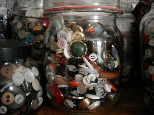 button jar close up
