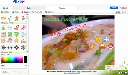 Picnik screenshot flickr