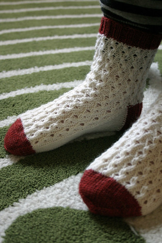 Elongated Corded Rib Socks