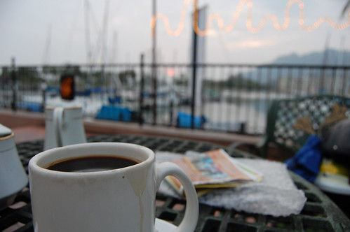 Coffee at the harbour