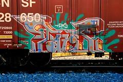 Tars (All Seeing) Tags: art graffiti trains graffitiart tars freights paintedtrains railart canadiangraffiti freightgraffiti boxcarart
